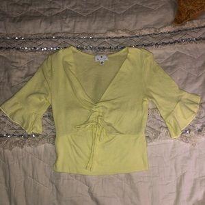 Yellow Socialite blouse
